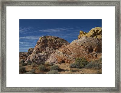 Colored Rocks Framed Print by T C Brown