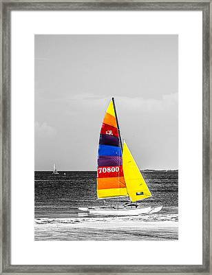 Colored Sails Framed Print by Shelby  Young