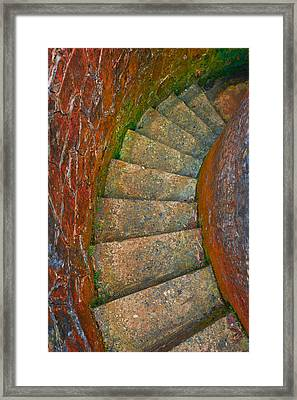 Colored Stairs Framed Print