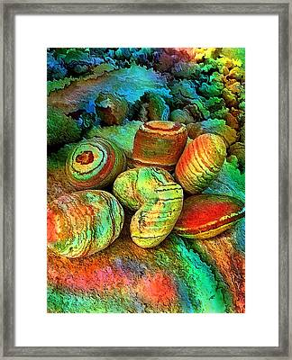 Colored Stones By Rafi Talby   Framed Print by Rafi Talby