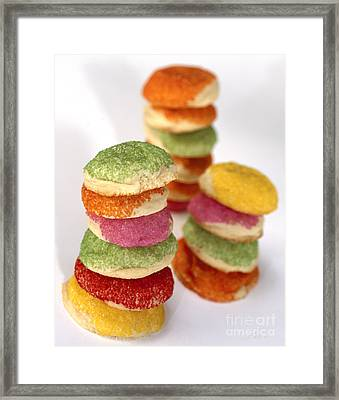 Colored Sugar Cookies Framed Print by Iris Richardson