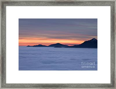 Colored Sunset Framed Print