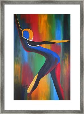 Colored Framed Print by Teri Howard Stewart
