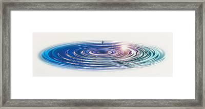 Colored Water Drop Framed Print