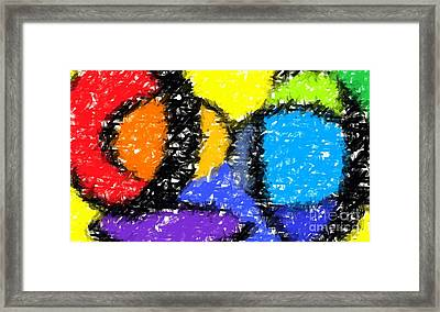 Colorful Abstract 3 Framed Print by Chris Butler