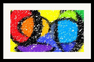 Vivid Colour Digital Art Framed Prints