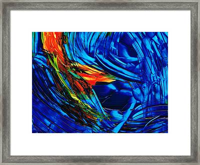 Colorful Abstract Art - Energy Flow 1 - By Sharon Cummings Framed Print