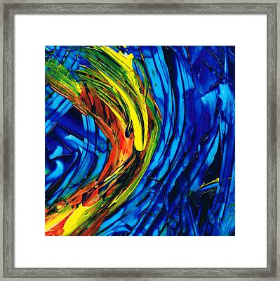 Colorful Abstract Art - Energy Flow 2 - By Sharon Cummings Framed Print by Sharon Cummings