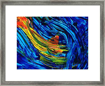 Colorful Abstract Art - Energy Flow 3 - By Sharon Cummings Framed Print by Sharon Cummings