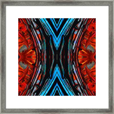 Colorful Abstract Art - Expanding Energy - By Sharon Cummings Framed Print