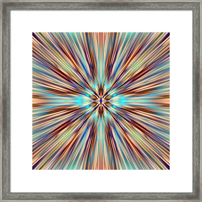 Colorful Abstract Framed Print by Cassie Peters