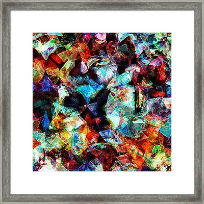 Framed Print featuring the digital art Colorful Abstract Design by Phil Perkins