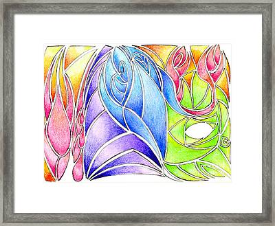 Colorful Abstract Drawing Framed Print by Minding My  Visions by Adri and Ray