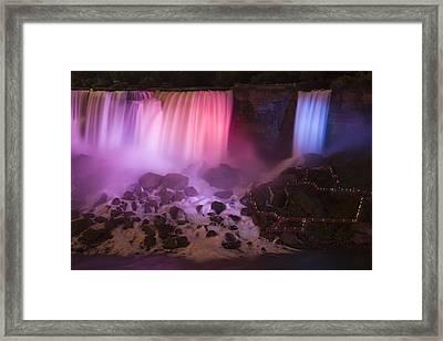 Colorful American Falls Framed Print