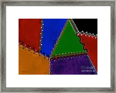 Colorful And Crazy Patchwork Quilt Framed Print by Nan Wright