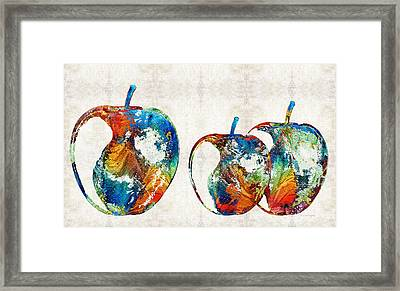 Colorful Apples By Sharon Cummings Framed Print by Sharon Cummings