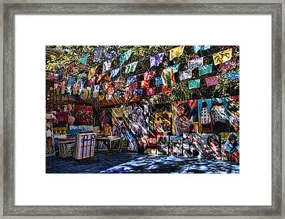 Colorful Art Store In Mexico Framed Print by David Smith