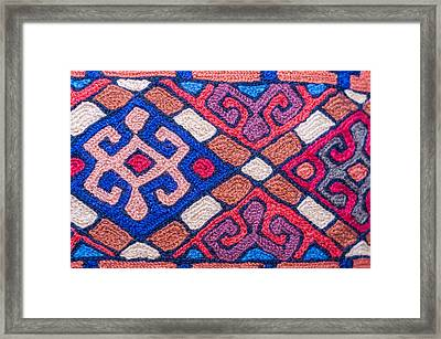 Colorful Asian Fabic Close Up Framed Print by Imran Khan