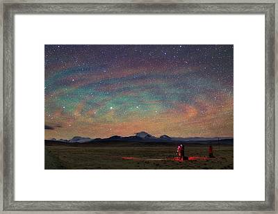 Colorful Atmospheric Gravity Waves Framed Print by Jeff Dai