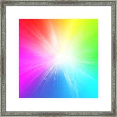Colorful Background Framed Print by Les Cunliffe