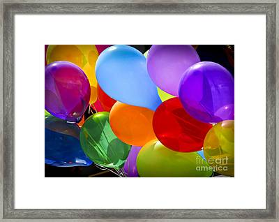 Colorful Balloons Framed Print by Elena Elisseeva
