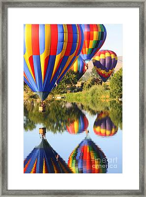 Colorful Balloons Fill The Frame Framed Print by Carol Groenen