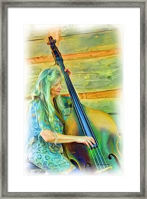 Colorful Bass Fiddle Framed Print by Kenny Francis