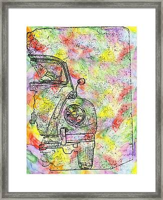 Colorful Beetle Framed Print