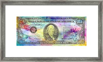 Colorful Benjamin Framed Print by Jon Neidert