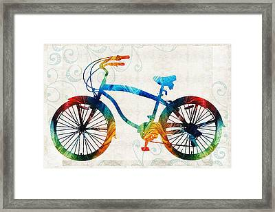Colorful Bike Art - Free Spirit - By Sharon Cummings Framed Print