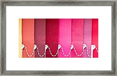 Colorful Blind Framed Print by Tom Gowanlock