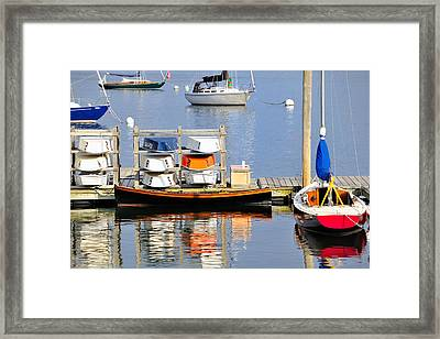 Colorful Boats Rockland Maine Framed Print by Marianne Campolongo
