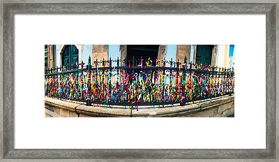 Colorful Bonfim Wish Ribbons Tied Framed Print by Panoramic Images