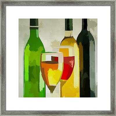 Colorful Bottes Framed Print by Yury Malkov