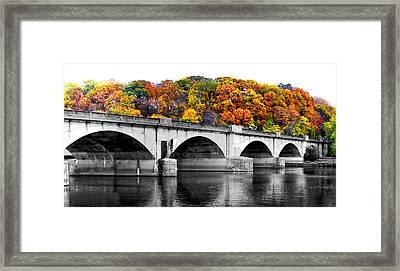 Colorful Bridge Framed Print