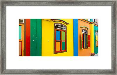 Colorful Building In Little India Framed Print