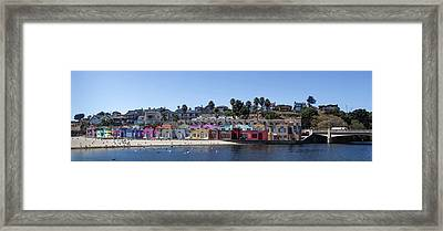 Colorful Buildings And Beach Framed Print
