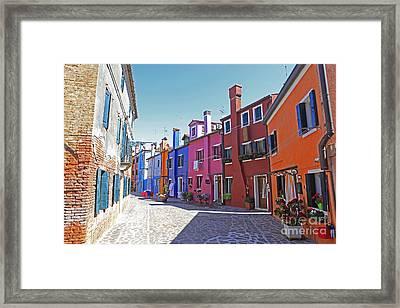 Colorful Burano Framed Print by Ernst Cerjak