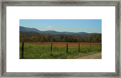 Colorful Cades Cove Framed Print by Dan Sproul
