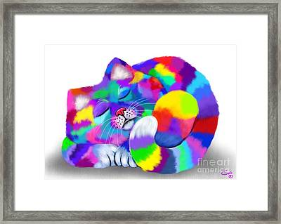 Colorful Calico Framed Print by Nick Gustafson