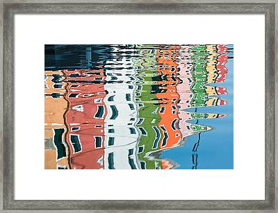 Colorful Canal Framed Print by Joan Herwig
