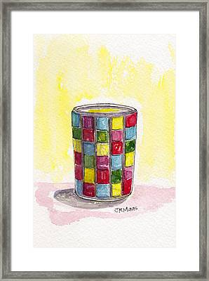 Colorful Candleholder Framed Print