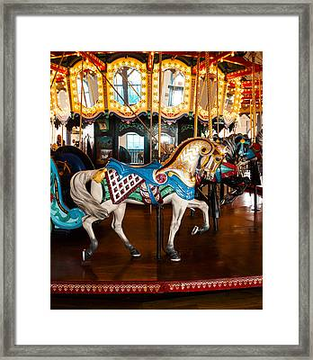 Framed Print featuring the photograph Colorful Carousel Horse by Jerry Cowart
