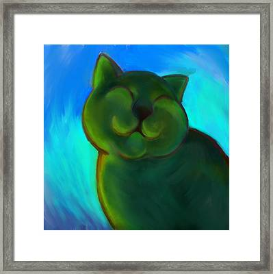 Colorful Cat 4 Framed Print by Anna Gora