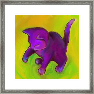 Colorful Cat 7 Framed Print by Anna Gora
