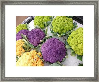 Framed Print featuring the photograph Colorful Cauliflower by Caryl J Bohn