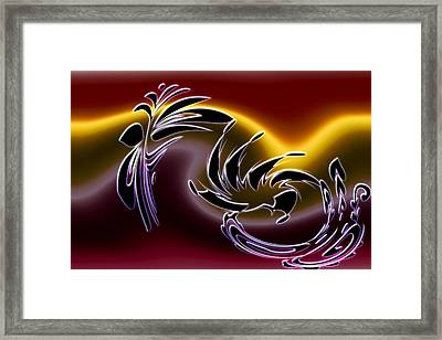 Colorful Chaos Framed Print by Becca Buecher
