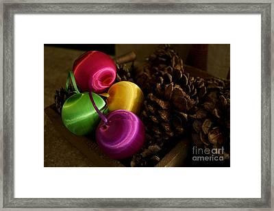Colorful Christmas Balls Framed Print