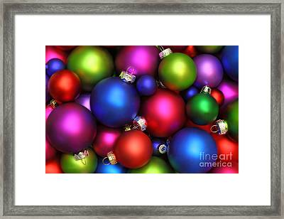 Colorful Christmas Ornaments Framed Print