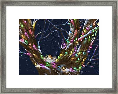 Colorful Christmas Framed Print